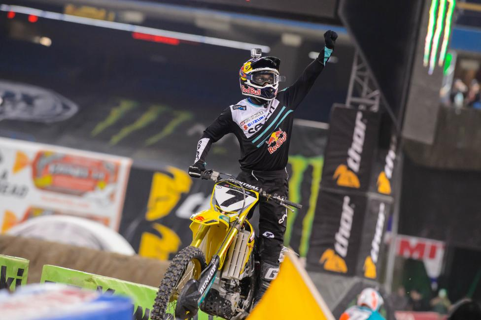 James Stewart won his fourth race of the season Saturday.