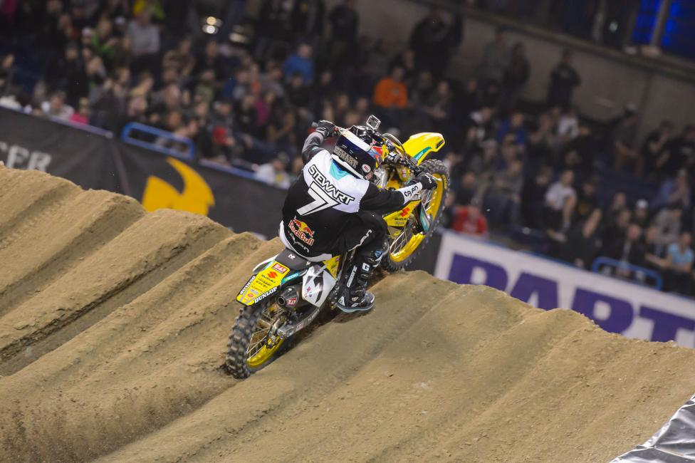 Stewart is now second all-time in supercross wins.  Photo: Simon Cudby