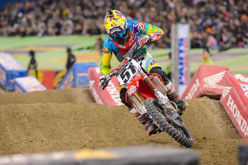 Barcia had his best finish of the season in Toronto.