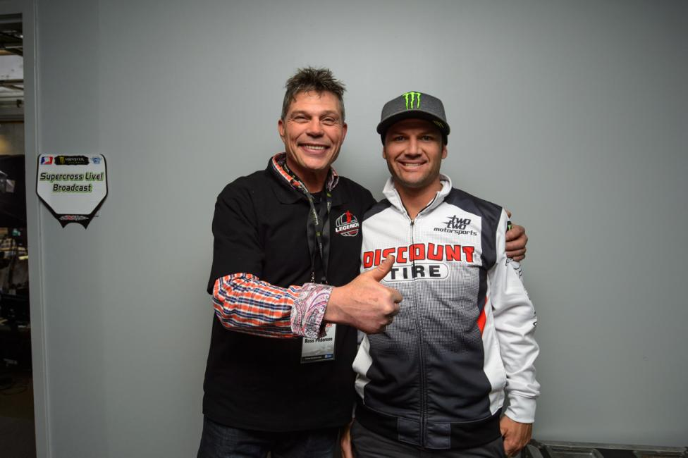 Pederson hanging out with Chad Reed this past weekend in Toronto. Photo: James Lissimore