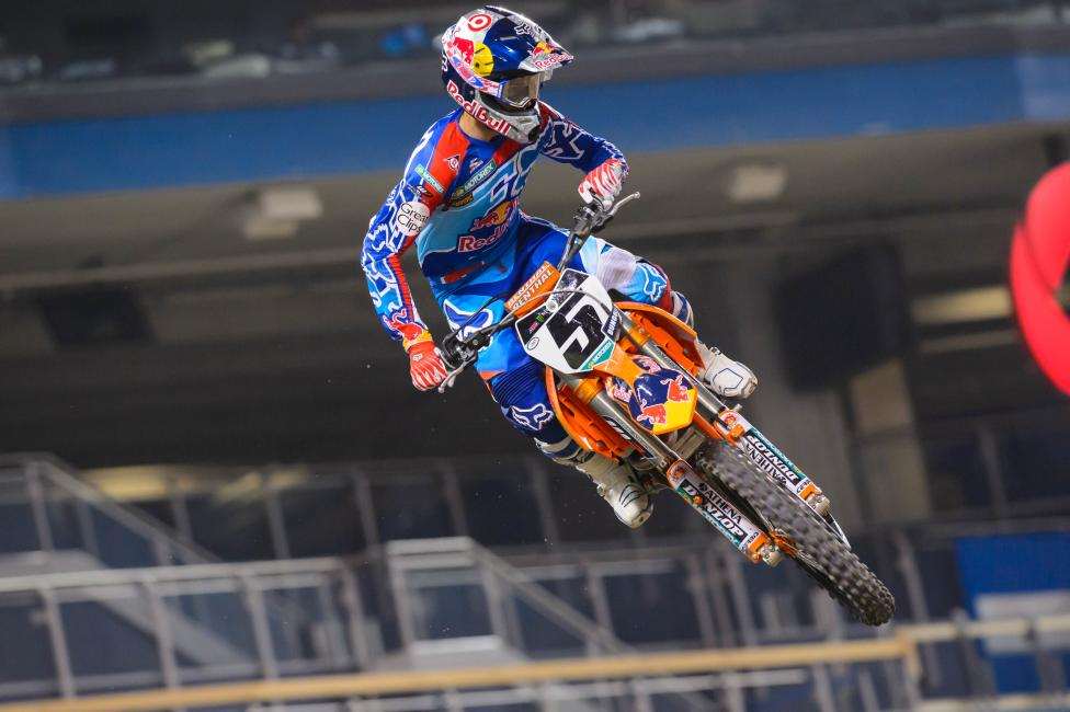 """""""I think it's important to race for yourself out there and race as if the guys are obstacles on the track,"""" Ryan Dungey.Photo: Simon Cudby"""
