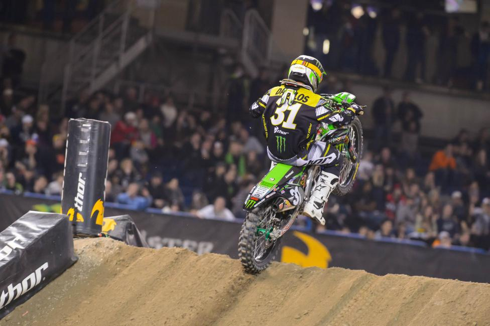 Davalos holds a five point lead over Justin Bogle heading to St. Louis. Photo: Simon Cudby