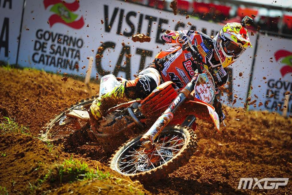 Antonio Cairoli went 1-1 in Brazil.Photo: MXGP