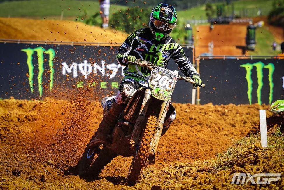 Arnaud Tonus won the MX2 class in Brazil.Photo: MXGP