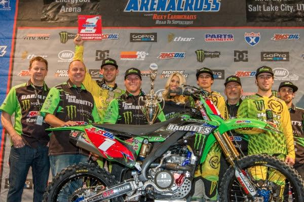 Tyler Bowers won his fourth title on Saturday. Photo: Monster Energy