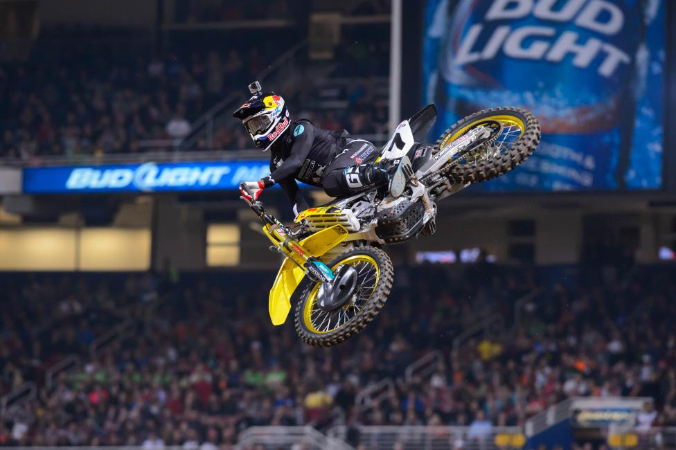Stewart captured his fifth win on the season Saturday. The most in 450SX. Photo: Simon Cudby