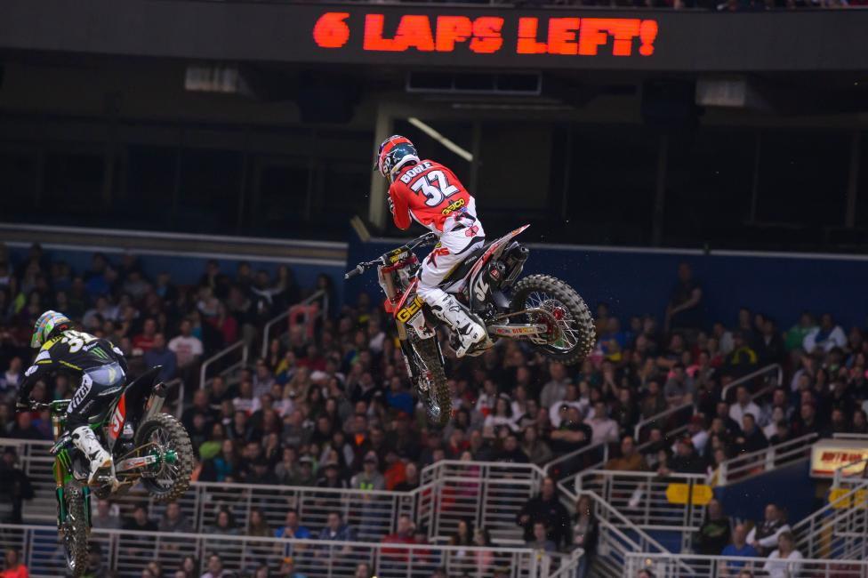 Bogle applied pressure to Davalos all night, but had to settle for second.  Photo: Simon Cudby
