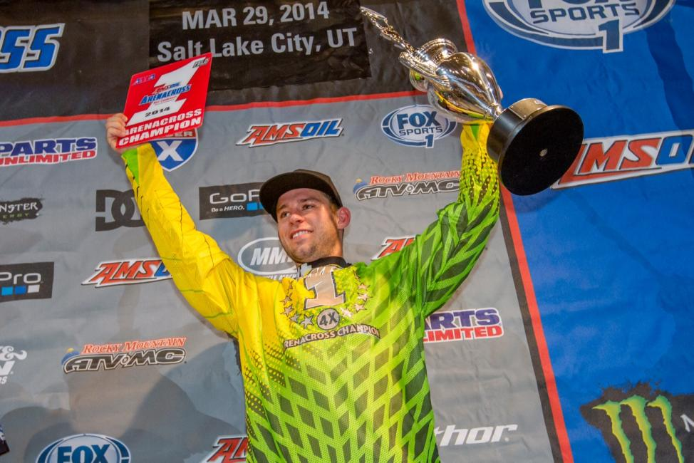 Bowers captured his fourth arenacross title over the weekend.  Photo: Monster Energy
