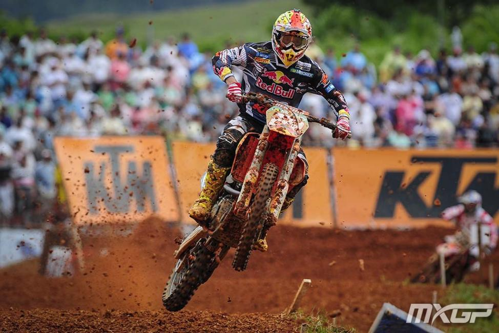 Antonio Cairoli was in perfect form in Brazil.Photo: MXGP