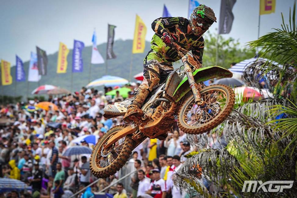 In the absence of Jeffrey Herlings, Arnaud Tonus won his first career MX2 overall.Photo: MXGP