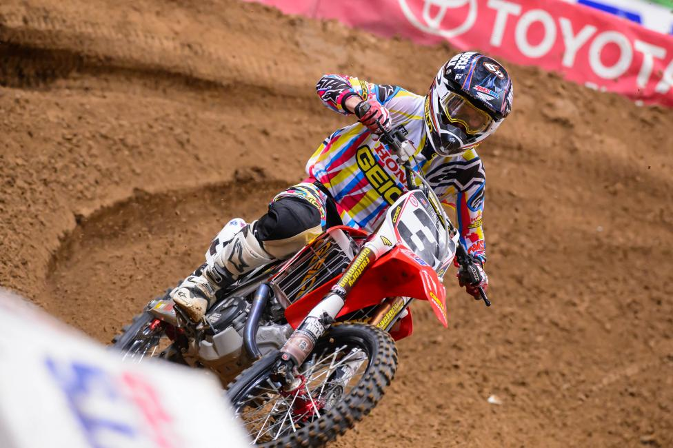Eli Tomac finished sixth in his return.  Photo: Simon Cudby
