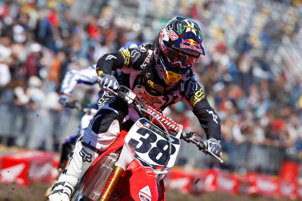 Trey Canard's run of podiums in 2010 was ridiculous. Photo: Simon Cudby