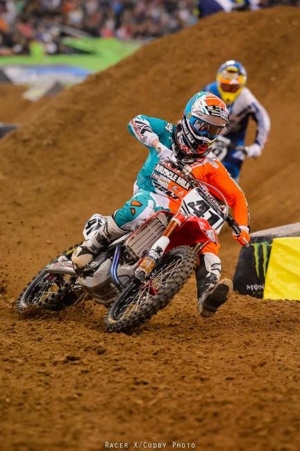Oh and Trey Canard was fourth and you want to guess how his race went? He was kind of lonely back there, too.