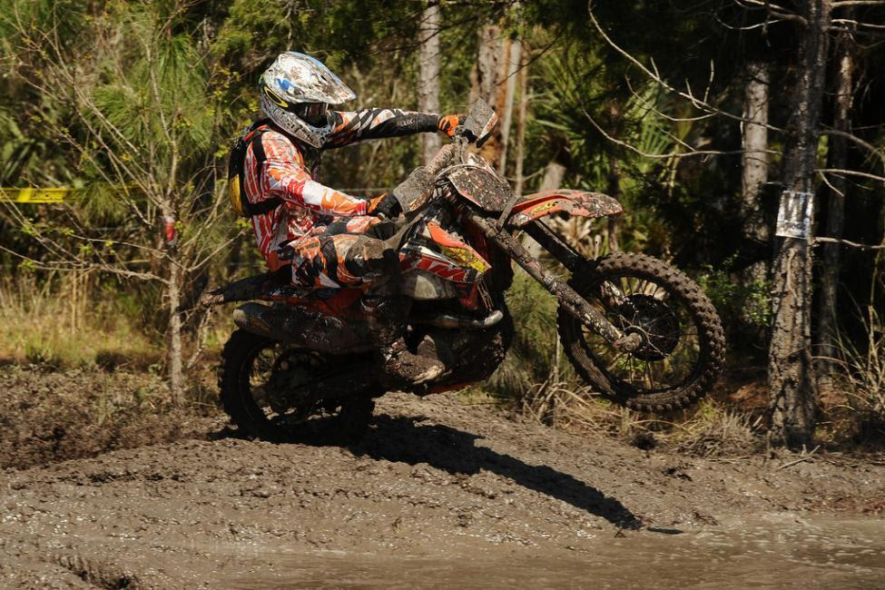Charlie Mullins holds a three point lead in GNCC.