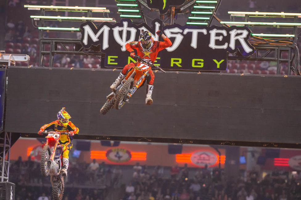 Jason Anderson holds an 11 point lead in 250SX West Region.
