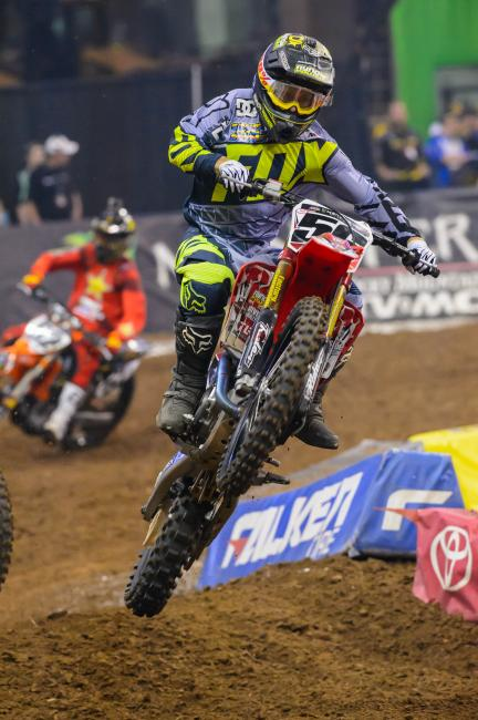 Jimmy D finished 15th in his return to 450SX.