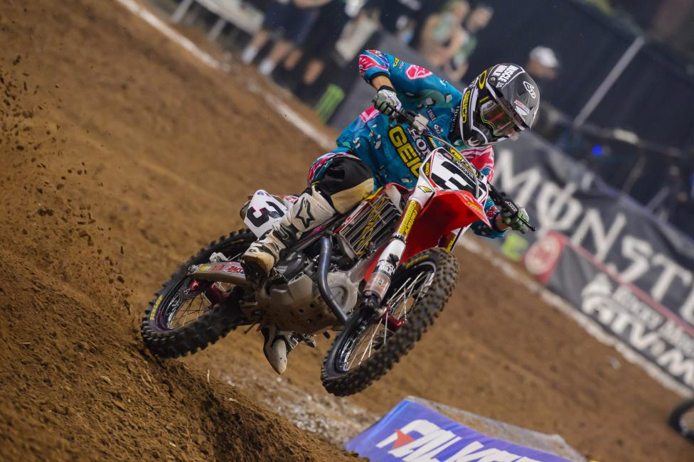 Injuries have caused Tomac to miss seven races during his rookie 450SX season. Photo: Simon Cudby