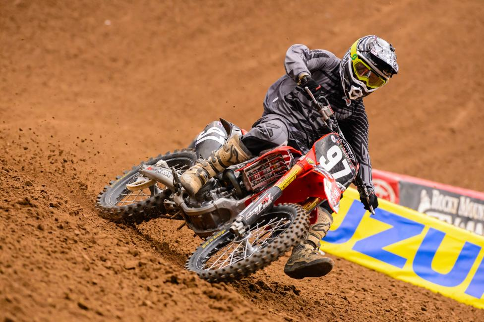 Ingalls had to borrow a bike, gear, etc in Houston and still finished 15th in the main. Photo: Simon Cudby