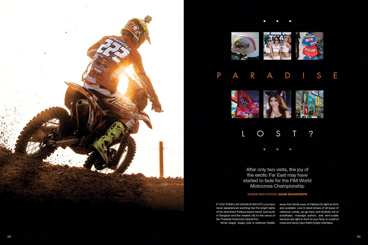 The FIM World Motocross Championship made its second visit to Thailand this year, and … well, things probably could have gone more smoothly. Page 124.