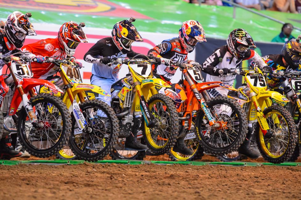 Who is still trying to make gains in supercross? Photo: Simon Cudby