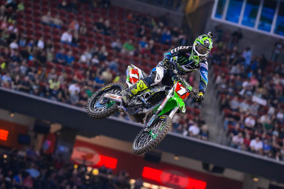 It was all Ryan Villopoto in Houston as he cruised to his fourth win on the season. Photo: Simon Cudby