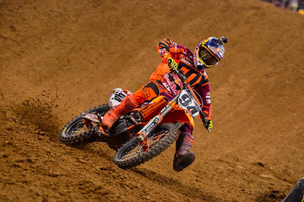 Ken Roczen now has seven podiums in 2014.  Photo: Simon Cudby