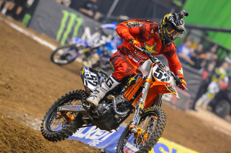 Cole Thompson suffered a torn ACL in Houston that will sideline him for the rest of Monster Energy Supercross.