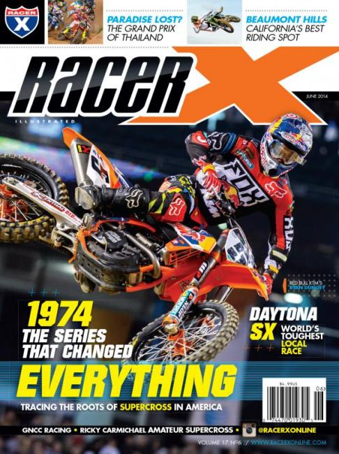 Ryan Dungey graces the June issue of Racer X Illustrated.  Photo: Simon Cudby