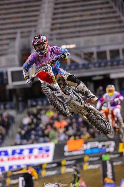 Both Justin Barcia and Eli Tomac passed Short to land themselves top-five positions.Photo: Cudby