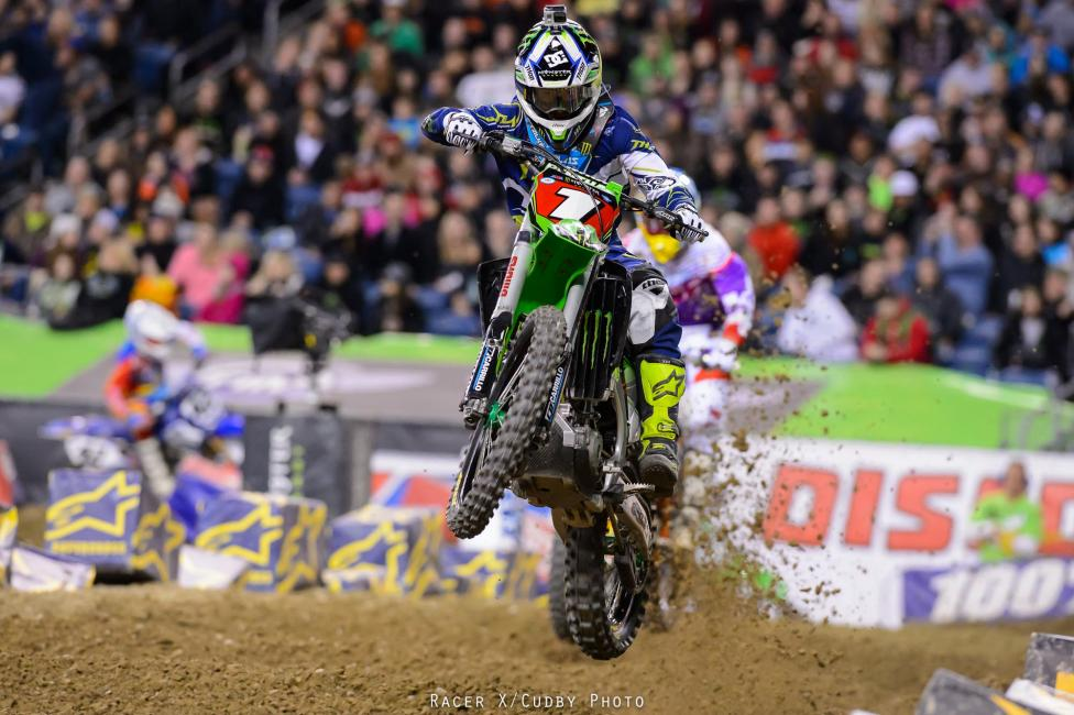 Ryan Villopoto is one step closer to a fourth straight 450SX Championship. Photo: Simon Cudby