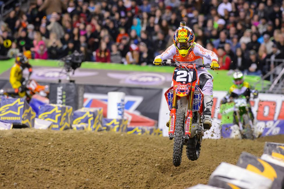 Seely trails Jason Anderson by eight points with one race to go.