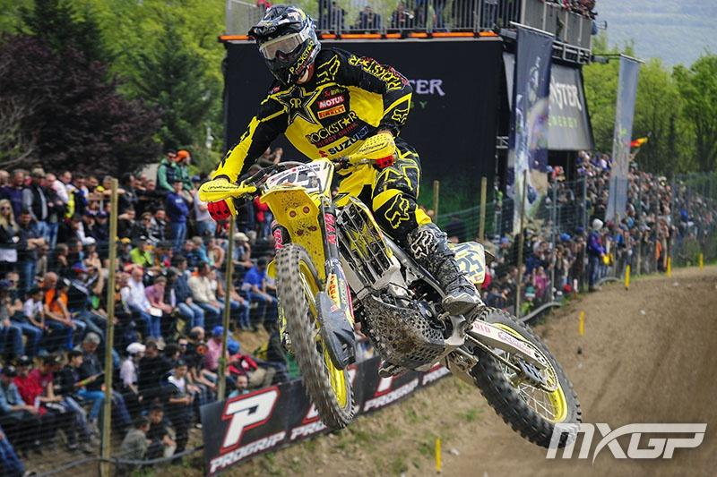 Desalle is back in title contention following his win in Italy. Photo: MXGP