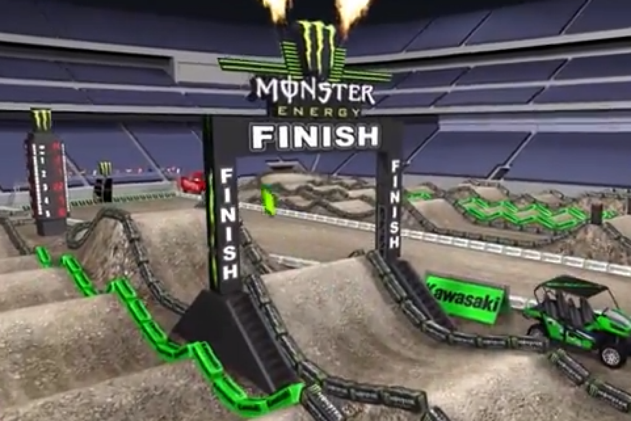 Animated Track Map: East Rutherford