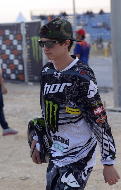 Covington will stay in Europe to race the MX2 class.  Photo: Monster Energy