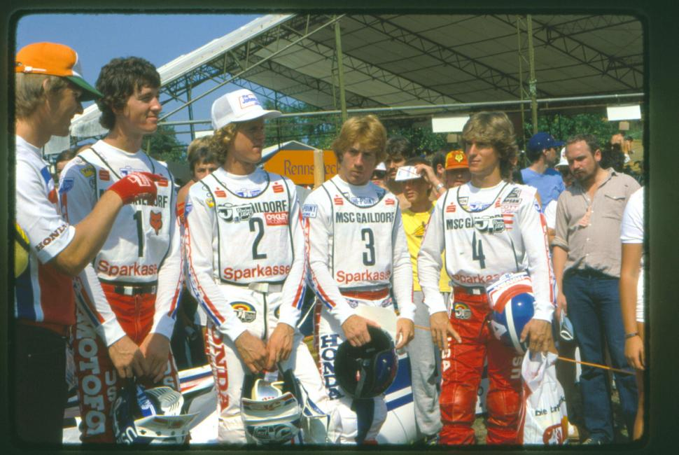 Of the 1982 version of Team USA -- #1 David Bailey, #2 Johnny O'Mara, #3 Danny Chandler, #4 Jim Gibson -- Chandler and Gibson would both end up racing in Europe.Photo: Warren Price