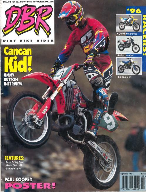 Jimmy Button on the September 1996 issue of Dirt Bike Rider.