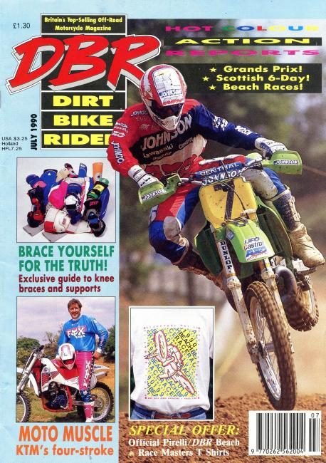 Billy Liles on the July 1990 cover the UK based Dirt Bike Rider.