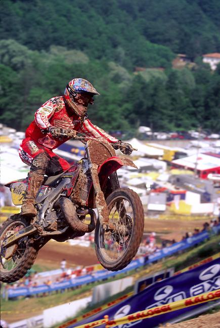 Ryan Hughes spent two years in the middle of his career living in Italy and racing the 250 GPs for Pamo Honda.  Photo: DC