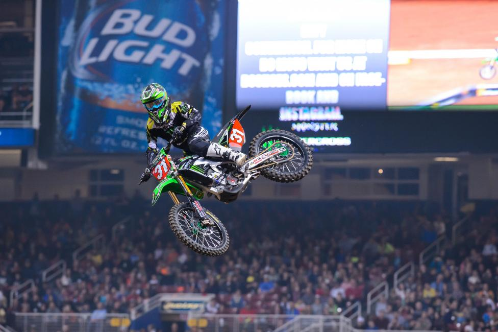 Martin Davalos will carry the 250SX East Region points lead to East Rutherford next weekend.