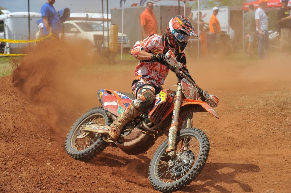 Kailub Russell holds a two point lead in GNCC.Photo: Ken Hill