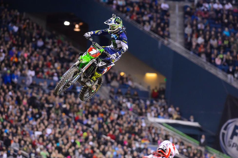 Ryan Villopoto can capture the championship this weekend.  Photo: Simon Cudby