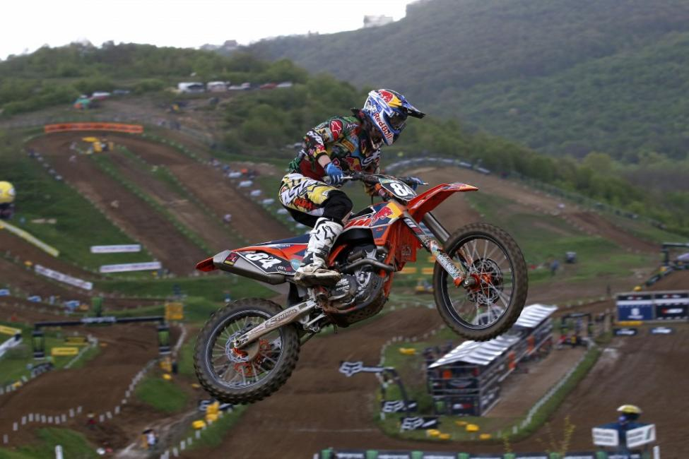 A 1-1 performance from Herlings closed the gap in MX2 standings.  Photo: Ray Archer