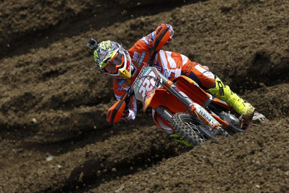 Cairoli navigated the deep ruts to capture the MXGP overall. Photo: Ray Archer