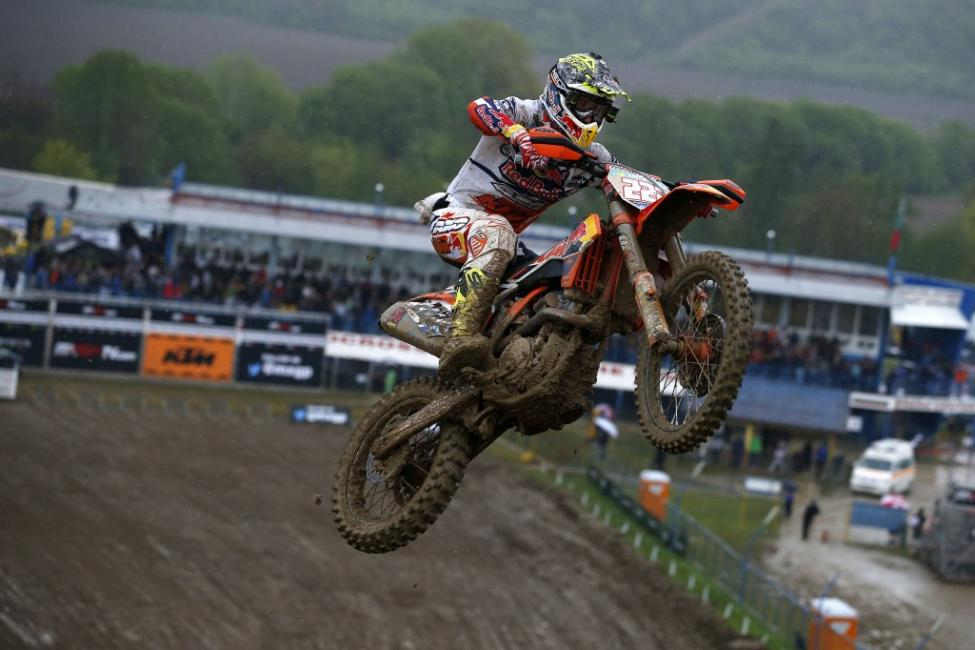 Cairoli extended his MXGP points lead after winning the overall on Sunday. Photo: Ray Archer