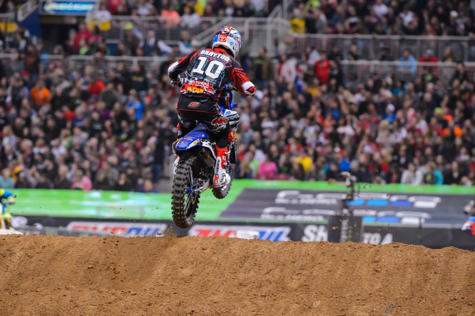 Brayton hopes to return for the Lucas Oil Pro Motocross season opener at Glen Helen on May 24.