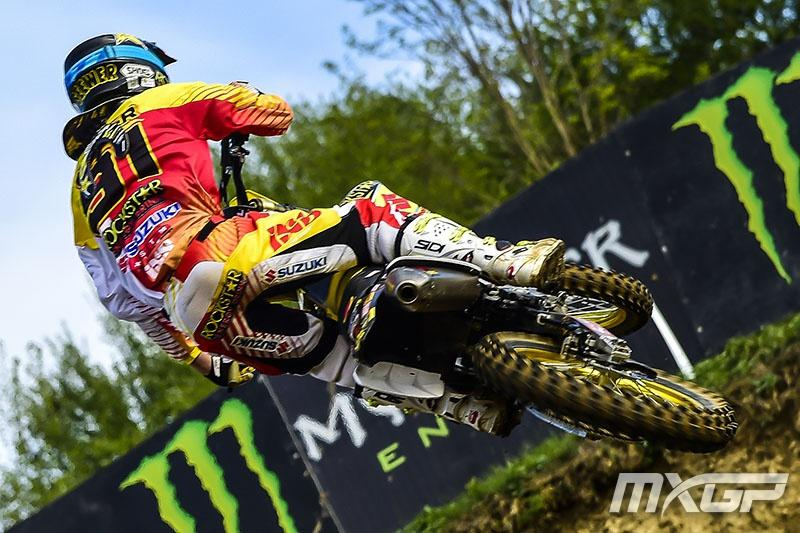 Rookie JeremySeewer is making a name for himself in the MX2 class. Photo: Simon Cudby