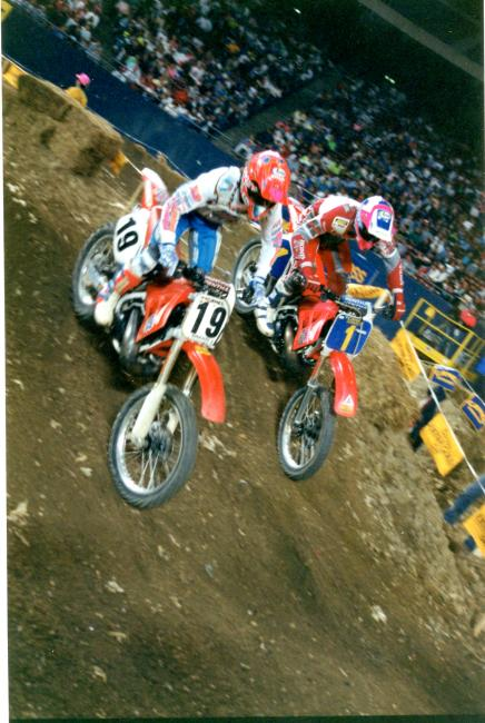 Jeff Stanton and Erik Kehoe battle in New Jersey back in 1990.Photo: Thom Veety