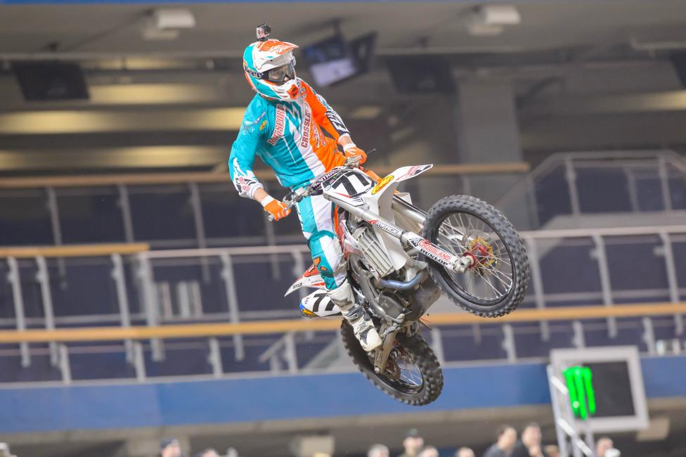 Albertson is currently 22nd in 450SX points.