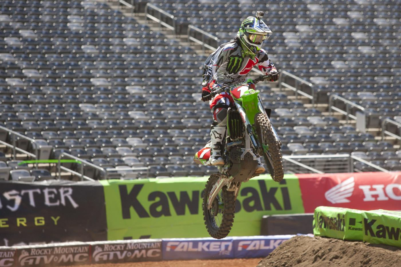 Ryan Villopoto looks to clinch his fourth straight SX title Saturday.  Photo: Jordan Roberts