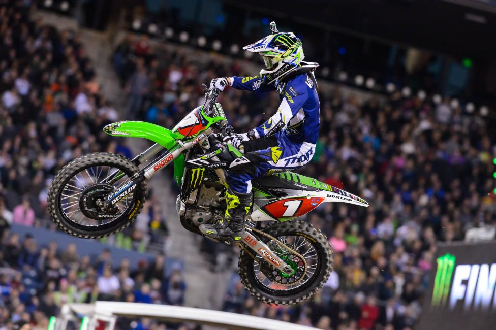 Ryan Villopoto can clinch the title tomorrow night.  Photo: Simon Cudby
